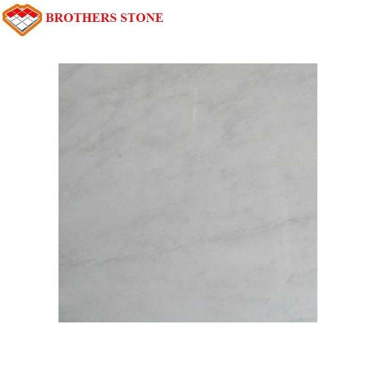 Big White Marble Stone With Rose Aurora Veins , Outdoor Floor Marble Garden Tiles