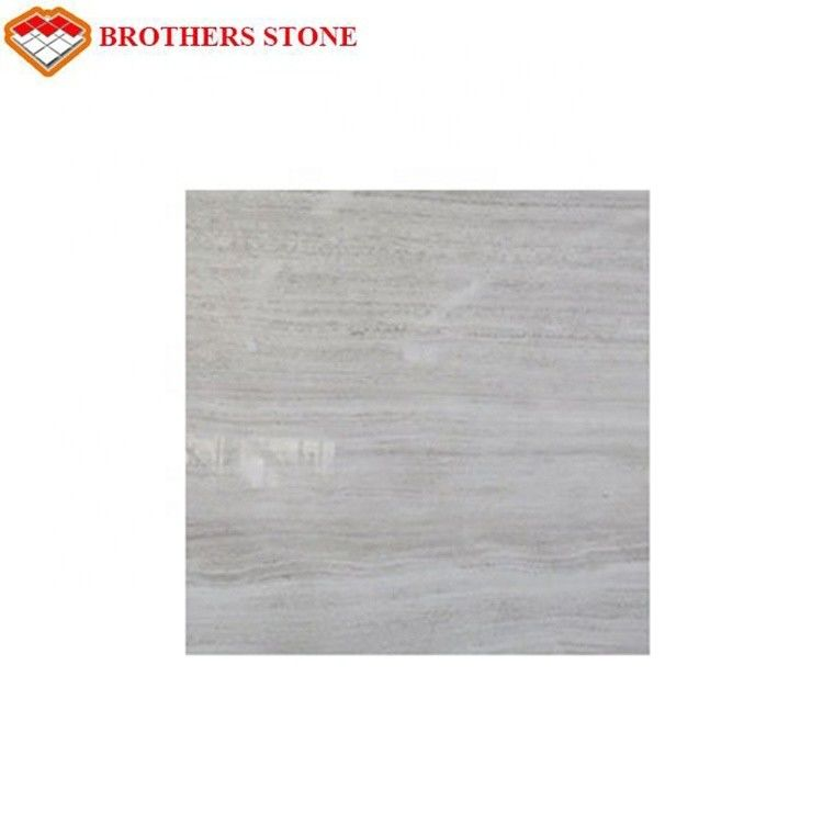 Natural White Wood Vein Marble Modern Style With 15-30mm Thickness