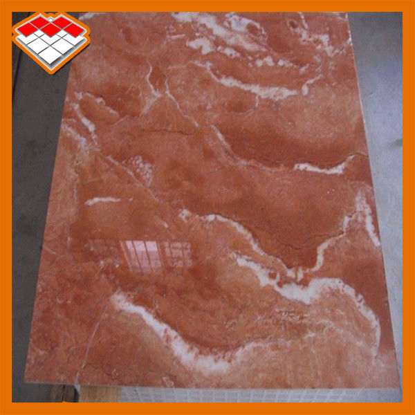 Customized Size Orange Red Marble Stone Tile Exterior Wall Cladding Use